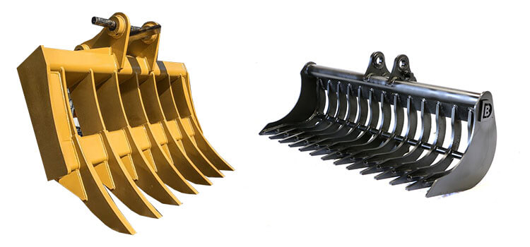 Excavator rakes- manufacturers-exporters-suppliers-stockists